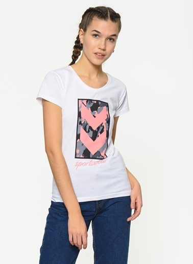Hummel Kadın Agoptos Tişört 910418-9001 Beyaz